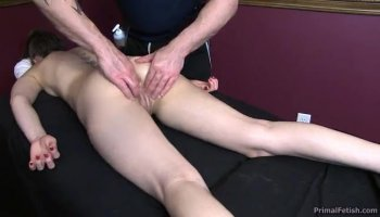 Perfect blonde babe gets hardcore fuck on the bed