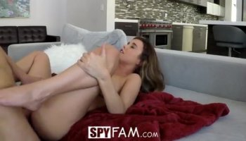 Blackmailed stepsis is left with quivering quim