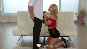 Old Handicapped guy bangs sexy blonde hottie