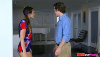 Young Russian girl ass-fucked by 2 teachers