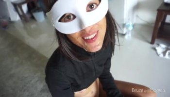 Hot brunette Christy likes to ride bikes and huge cocks